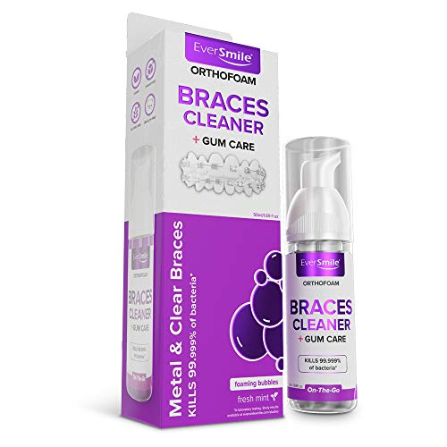 OrthoFoam Braces Cleaner - Cleans Under Metal, Ceramic or Clear Brackets & Wires. Can Brush or Rinse With & Use in Trays. Foaming...