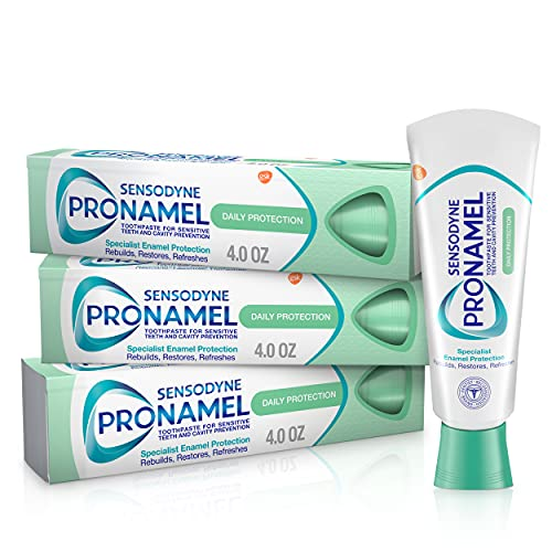 Sensodyne Pronamel Daily Protection Enamel Toothpaste for Sensitive Teeth, to Reharden and Strengthen Enamel, Mint Essence - 4...