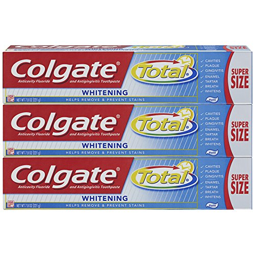 Colgate Total Whitening Toothpaste - 7.8 Ounce (Pack of 3)
